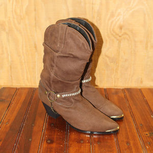 DINGO Gayle DI623 Fashion Western Slouch Boots